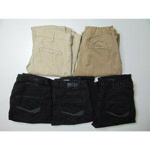 Lot of 5 BKE 32XL Black & Tan Jeans Straight Khaki